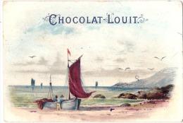 - CHROMO - Chocolat  LOUIT -  Bateau De Pêche  TB (petit Gribouillage Dos) - Cromos