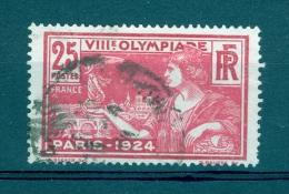 1924 N° 184 JEUX OLYMPIQUES  DOS CHARNIERES  OBLITERE 3 SCANNE DESCRPTION - Abarten Und Kuriositäten