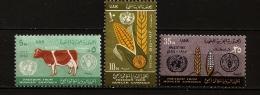 Palestine UAR 1963 N° 561 / 3 ** Campagne Mondiale Contre La Faim, Agriculture, FAO, Blé, Céréales, Vache, Maïs, Seigle - Palestine