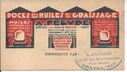 Docks Des Huiles De Graissage A. FEBVRE - Werbepostkarten
