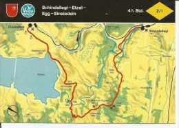 SCHINDELLEGI - ETZEL - EGG - EINSIEDELN  SUIZA  OHL - Landkaarten