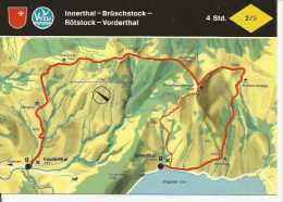 INNERTHAL - BRÜSCHSTOCK - RÖTSTOCK - BORDERTHAL  SUIZA  OHL - Landkaarten