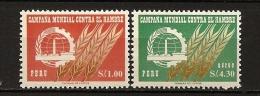 Perou Peru 1963 N° 464 + PA 189 ** Campagne Mondiale Contre La Faim, Nutrition, Famine, Agriculture, Usine, Blé, Céréale - Peru