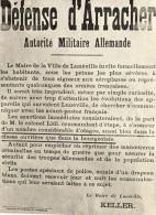 LUNEVILLE Défense D'arracher  Signé Keller Maire De Lunéville - Luneville