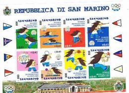 SAN MARINO - UNIF.BF73 FOGLIETTO - 2001 9^ EDIZ. GIOCHI PICCOLI STATI EUROPEI, A SAN MARINO   - NUOVO ** - Blocchi & Foglietti