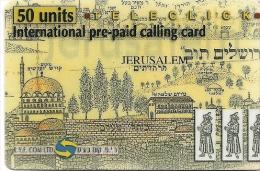 CARTE-PREPAYEE-ISRAEL-TELECLICK-50U -JERUSALEM-31/12/2000-- GRATTEE- T BE - Israel