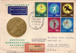 Lote SC353, DDR, 1965, Sobre, Cover, Deportes, Equitacion, Caballo, Esgrima, Fencing, Horse, Sport - Autres