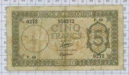 Banque De L'Indochine, 5 Francs Djibouti TTB - Djibouti