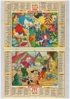 L'Almanach Des PTT De 1976, Gironde 33, Walt Disney - Tamaño Grande : 1971-80