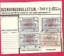 BRF-6025   Fragment Verzendingsbulletijn  Tarief Nr 2   CHIMAY    Op Ocb 28 En 3 Maal Ocb Nr 30 - 1895-1913