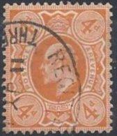 4 P. Orange Dentelé 14 Oblitéré TB - 1902-1951 (Re)
