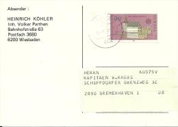 Deutschland 1978 Wiesbaden >> Bremerhaven / Europa Cept - BRD
