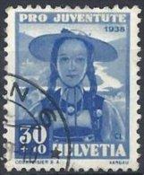 30 C. Bleu De 1938 Oblitéré - Pro Juventute
