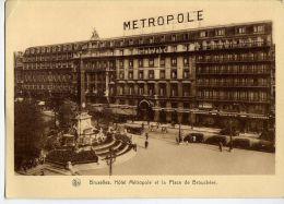 Belgique--BRUXELLES--Hotel Métropole Et La Place De Brouckère (animée,voitures),cpsm 105mm X 150mm éd Nels - Places, Squares