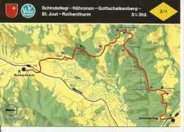 SCHINDELLEI - HÖHRONEN - GOTTSCHALKENBERG - ST. JOST - ROTHENTHURM SUIZA  OHL - Landkaarten