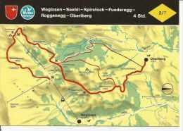 WEGLOSEN - SEEBLI - SPIRSTOCK - FUEDEREGG - ROGGENEGG - OBERIBERG   SUIZA  OHL - Landkaarten