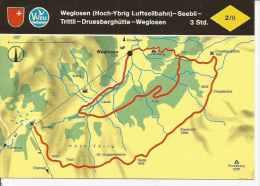 WEGLOSEN - SEEBLI - TRITTLI - DRUESBERGHÜTTE - WEGLOSEN   SUIZA  OHL - Landkaarten
