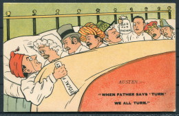 """Artist Austen - Fiscal Policy - English Politicians - """"when Father Says Turn, We All Turn"""" National Series - Satirical"""