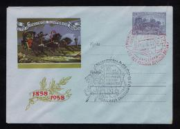 URSS 1958 Cover Postal Stationery Entier Postale Correos Mail Courrier Correio Chevaux Centenary Horses Sp2361 - Post