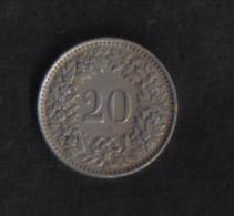 SWITZERLAND  -  20 RAPPEN  1944B - Suiza