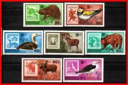 MONGOLIA 1978 CANADA STAMP SHOW = BIRDS & ANIMALS SC#1019-25 MNH CV$5.95 (3D0879) - Mongolia