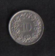 SWITZERLAND  -  10 RAPPEN  1969B - Suiza
