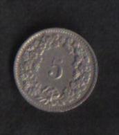 SWITZERLAND  -  5 RAPPEN  1955B - Switzerland