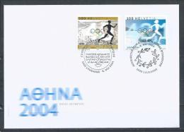 Switzerland/IOC. Scott #  1182,12O3 Mixed FDC. Olympic Summer Games Athens. Joint Issue Of  2004 - Emisiones Comunes