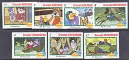 Grenada Grenadines 519-25   **  DISNEY The RESCUERS  CHRISTMAS - Grenada (1974-...)