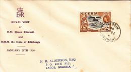 Nigeria FDC: 1956 Royal Visit  (G41-43) - Royalties, Royals