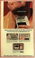 Reklame Werbeanzeige  ,  Remington Deluxe  -  Der Kraftvolle Rasierer  ,  Von 1965 - Wissenschaft & Technik