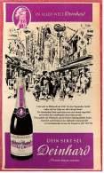 Reklame Werbeanzeige Von 1965 -  Dein Sekt Sei Deinhard Lila  -  Kenner Wissen Warum  -  Von 1965 - Alkohol