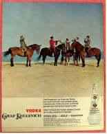 Reklame Werbeanzeige Von 1965 -  Vodka Graf Keglevich  -  Im Kreis Der Reiter  -  Von 1965 - Alkohol