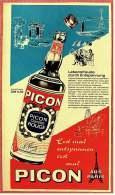 Reklame Werbeanzeige Von 1965  -  PICON  -  Lebensfreude Durch Entspannung  -  Von 1965 - Alkohol