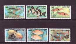 CAMBODGE 1999  POISSONS  YVERT  N°1667/72  NEUF MNH** - Fishes