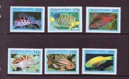 BENIN 1997  POISSONS  YVERT  N°774/79  NEUF MNH** - Fishes