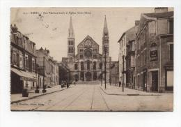 CPA  51: REIMS   Rue Avec Pharmacie Baudet Et Maison Turin   1929    A  VOIR  !!!!!!! - Reims