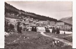 CPSPM Noir Et BlancCOURCHEVEL 1850(Savoie); Le Quartier De Plantret( En été) - Carte Dentelée - France