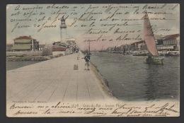 DF / 30 GARD / LE GRAU DU ROI / L' ANCIEN PHARE, LE CANAL , BARQUES DE PÊCHE  / CIRCULÉE EN 1907 - Le Grau-du-Roi