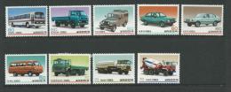 1983 Korean Made Vehicles Set  Of 9 Complete MUH SG Catalogue  No´s 1554/1555, 1558/1559, 1564/1565, 1573 1576 & 1577 - Korea, South