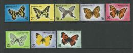 1976 Butterflies Set  Of 8 Complete MUH SG Catalogue  No´s 1220/1221, 1226/1227, 1246/1247 & 1264/1265 - Korea, South