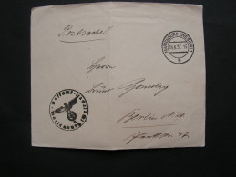 DR  Postsache  Marienburg 1937  Bug - Germany