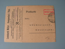 == Gebühr Bezahlz  Georgenthal 1923 Bergbau - Allemagne