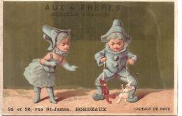 CHROMO -   Aux 4 Freres BORDEAUX Enfants  Enfants Petits Pierrots Lutins Et Marionnettes  - TTB - Trade Cards