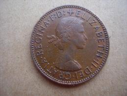 Great Britain 1958 QUEEN ELIZABETH II HALF PENNY USED COIN As Seen. - 1902-1971 : Post-Victorian Coins