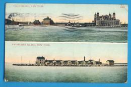 CP, NEW YORK - ELLIS ISLAND - SWINBURNE ISLAND, Posted In 1910 - Ohne Zuordnung
