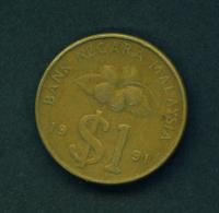 MALAYSIA - 1991 $1 Circulated - Malaysie