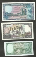 BANQUE Du LIBAN - 5 Livres / 50 Livres / 100 Livres (Lot Of 3 Notes) - Libano