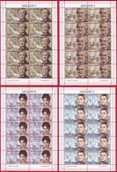 Moldova, 4 Sheetlets, Famous People - Musicians, 2013 - Celebrità