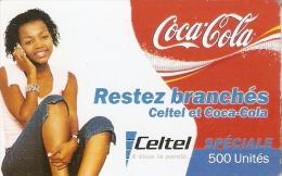 TARJETA DE RUANDA DE COCA-COLA  (COKE) CELTEL - Publicidad